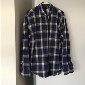 Men's J Crew Tartan Plaid Button-Down Large